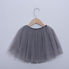 billige Pigenederdele-Baby Pige Aktiv / Basale Ensfarvet Bomuld / Polyester Nederdel Sort 100