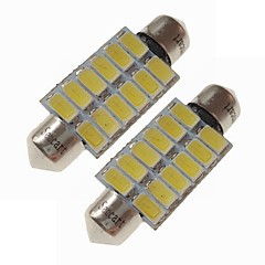 billige Interiørlamper til bil-SENCART 2pcs 39mm Bil Elpærer 6 W SMD 5730 360 lm 12 LED interiør Lights / utvendig Lights Til