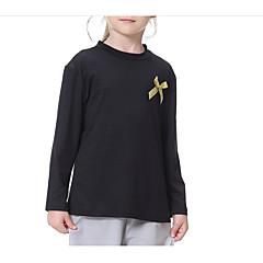 billige Pigetoppe-Børn Pige Ensfarvet Langærmet T-shirt