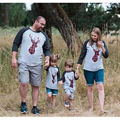 billige Sett med familieklær-Familie Look Grunnleggende Dyr Langermet Tøysett