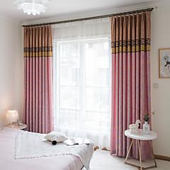 tanie Akcesoria okienne-zasłony zasłony Dwa panele Niestandardowy rozmiar Pomarańczowy / Żakard / Sypialnia