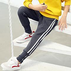 tanie Odzież dla chłopców-Dzieci Dla chłopców Podstawowy / Moda miejska Codzienny Solidne kolory Nadruk Bawełna / Poliester Spodnie Czarny 140