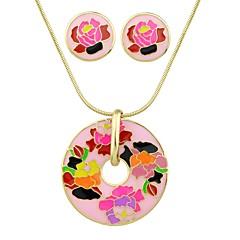 tanie Zestawy biżuterii-Damskie Tropikalny Biżuteria Ustaw - Prosty, Moda Zawierać Kolczyki sztyfty Naszyjniki z wisiorkami Biały / Brzoskwiniowy Na Ceremonia Randka