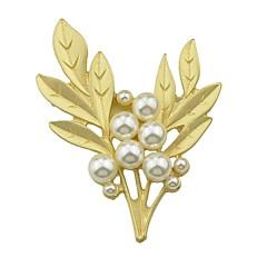 billige Motebrosjer-Dame Perle Tropisk Nåler - Perle Blad Formet Enkel, Grunnleggende Brosje Gylden Til Stevnemøte / Arbeid
