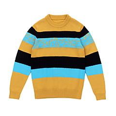 billige Sweaters og cardigans til drenge-Børn Drenge Basale Stribet Langærmet Polyester Trøje og cardigan Grøn 150