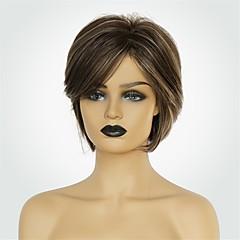 cheap Wigs & Hair Pieces-Human Hair Capless Wigs Human Hair Natural Straight Bob Haircut Fashionable Design / New Design / Natural Hairline Brown Short Capless Wig Women's
