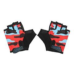 baratos Luvas de Motociclista-Meio dedo Todos Motos luvas Tecido / silica Gel Respirável / Antiderrapante