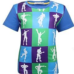 baratos Roupas de Meninos-Bébé Para Meninos Estampa Colorida Manga Curta Camiseta