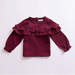 billige Sweaters og cardigans til babyer-Baby Pige Basale Daglig Ensfarvet Langærmet Bomuld Trøje og cardigan Hvid 100