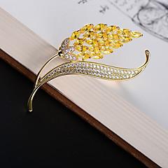billige Motebrosjer-Dame Kubisk Zirkonium Klassisk Nåler - 18K Gull, Østerrisk krystall Spike damer, Koreansk Brosje Smykker Gull Til Gate
