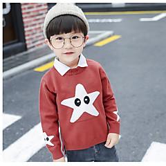 tanie Odzież dla chłopców-Dzieci Dla chłopców Podstawowy Codzienny Solidne kolory Długi rękaw Regularny Bawełna / Poliester Sweter i kardigan Zielony 100