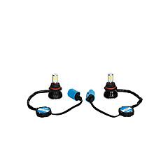 billiga LED-lampor för bil-otolampara 2 st passar för dodge ford jeep 40w 4000lm 9004 högljus ledd konvertering kit