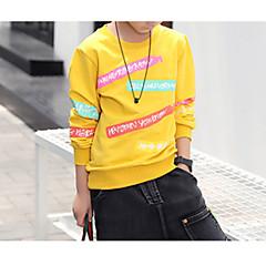 billige Hættetrøjer og sweatshirts til drenge-Børn Drenge Basale Daglig Ensfarvet Langærmet Normal Bomuld / Polyester Hættetrøje og sweatshirt Hvid 140