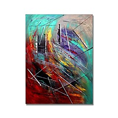 cheap -STYLEDECOR® Modern Hand Painted Abstract The Scribble Oil Painting On Canvas With Stretched Canvas