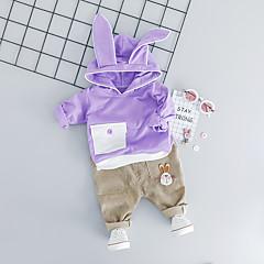 billige Tøjsæt til drenge-Baby Drenge Aktiv / Basale Daglig / I-byen-tøj Trykt mønster Langærmet Normal Normal Bomuld Tøjsæt Lyserød 100