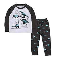 billiga Pojkkläder-Barn / Småbarn Pojkar Aktiv / Grundläggande Dagligen Tryck Tryck Långärmad Normal Normal Bomull Klädesset Vit