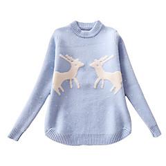 8af6312819e Děti Dívčí Šik ven Denní Tisk Dlouhý rukáv Standardní Polyester Svetříky a  kardigany Vodní modrá