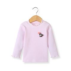 billige Babytøj-Baby Pige Basale Daglig Sort & Rød Patchwork Patchwork Langærmet Lang Lammeuld Bluse Rød 110