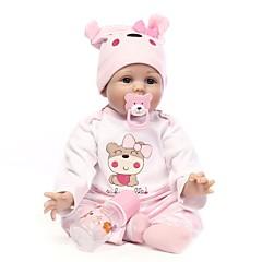 tanie Gry i zabawki-NPKCOLLECTION NPK DOLL Lalki Reborn Dziewczyna Lalki Dziewczynki 22 in Silikon Winyl - Noworodek Jak żywy Śłodkie Wyrób ręczny Bezpieczne dla dziecka Nietoksyczne Dzieciak Unisex / Dla dziewczynek