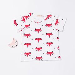 billige Overdele til drenge-Baby Drenge Aktiv / Basale Daglig / Sport Trykt mønster Trykt mønster Kortærmet Bomuld T-shirt Hvid 100