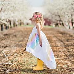 tanie Odzież dla dziewczynek-Dzieci Dla dziewczynek Aktywny Solidne kolory Bez rękawów Sukienka Biały