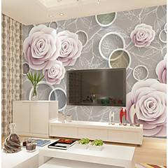 billige Tapet-bakgrunns / Veggmaleri Lerret Tapetsering - selvklebende nødvendig Blomstret / Mønster / 3D