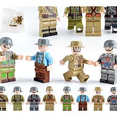 tanie Gry i zabawki-Klocki Figurki z klocków 12 pcs Wojsko Miasto Soldier zgodny Legoing Symulacja Wszystko Zabawki Prezent