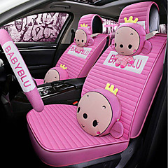 odeer auto stoelhoezen hoofdsteun en taille kussensets beige paars roze tekstiili cartoon standaard voor universeel alle jaren alle modellen