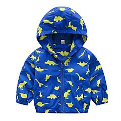tanie Kurtki i płaszcze dla chłopców-Brzdąc Dla chłopców Aktywny Codzienny Solidne kolory / Geometric Shape Długi rękaw Regularny Poliester Odzież puchowa / pikowana Niebieski