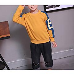 billige Hættetrøjer og sweatshirts til drenge-Børn Drenge Basale Daglig Ensfarvet Langærmet Normal Bomuld / Polyester Hættetrøje og sweatshirt Orange