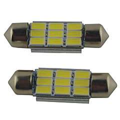 cheap Car Lights-2pcs 39mm / 36mm / 41mm Car Light Bulbs 2W SMD 5630 215lm 9 Reading Light
