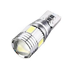 billige Interiørlamper til bil-10pcs T10 / W5W Bil Elpærer SMD 5630 6 LED interiør Lights Til Universell / Volkswagen / Toyota General motors Alle år