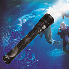 cheap Camping, Hiking & Backpacking-U'King Diving Flashlights / Torch LED Cree® XM-L2 3 Emitters 3000 lm 5500-6000K 1 Mode with Batteries Waterproof, High Power Camping / Hiking / Caving, Diving / Boating, Outdoor