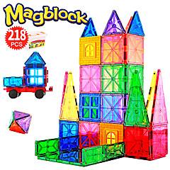 tanie Klocki magnetyczne-Attop Płytki magnetyczne 218 pcs Kreatywne Wzór geometryczny Przejście kolorów Wszystko Dla chłopców Dla dziewczynek Zabawki Prezent