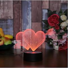 billige Bryllupsdekorasjoner-Andre LED lys Akryl Bryllupsdekorasjoner Bryllup / Valentinsdag Bryllup / Fødselsdag / Hjerte Alle årstider