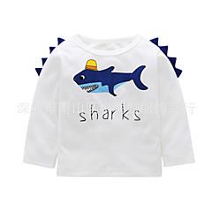 billige Babyoverdele-Baby Pige Aktiv / Basale Ensfarvet Langærmet Akryl / Polyester T-shirt Hvid