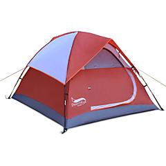 billige Telt og ly-3 person Strandtelt Familie Camping Telt Utendørs Regn-sikker Stang camping Tent >3000 mm til Strand Camping / Vandring / Grotte Udforskning Picnic Terylene, PU (Polyuretan) 210*180*135 cm