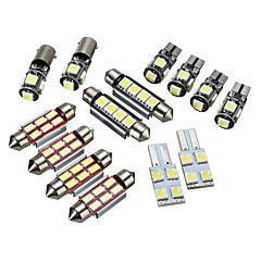 billige Bil Dekorasjonslys-14pcs T5 Bil Elpærer LED interiør Lights / Dekorasjonslys Til Volkswagen Transporter 2003 / 2004 / 2005