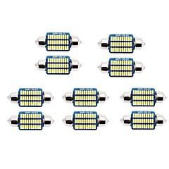 billige Interiørlamper til bil-10pcs 31mm / 36mm Bil Elpærer 1 W SMD 3014 60-100 lm 21/30 LED Lisensplatelampe / interiør Lights Til Universell