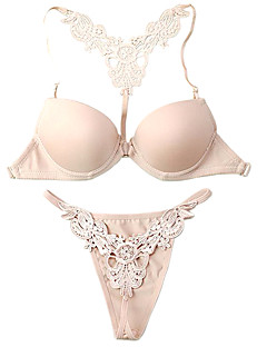 Cotton Demi Cup Adjustable Straps Front Closure Wedding/ Party Underwear Set More Colors Available
