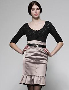 フリルの裾のフィットのスカート/レディーススカート(FF - B - ca0853005)