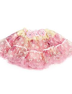 billige Skjørt-rosa trimming sløyfe tyll jente skjørt med fôr