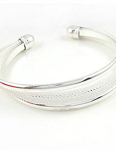 preiswerte Schmuck Ausverkauf-Damen Sterling Silber - Breiter Armreif Armbänder Für Hochzeit Party Besondere Anlässe