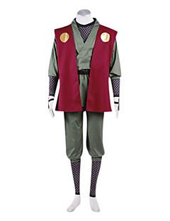 Innoittamana Naruto Jiraiya Anime Cosplay-asut Cosplay Puvut Kimono Patchwork Pitkähihainen Liivi Housut Vyö Säären lämmittäjät T-paita
