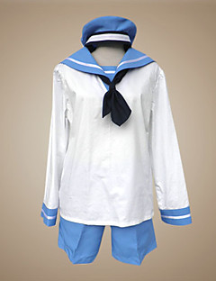 baratos Fantasias Anime-Inspirado por Hetalia Sealand Anime Fantasias de Cosplay Ternos de Cosplay / Uniformes Escolares Retalhos Manga Longa Peitilho / Blusa / Calças Para Homens