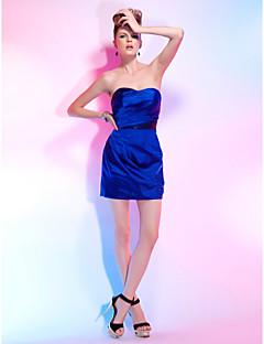 billige Paljettkjoler-Tube / kolonne Kjære Kort / mini Elastisk sateng / Paljetter Cocktailfest Kjole med Paljett / Sidedrapering av TS Couture®