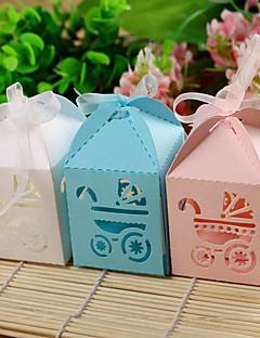 Baby Shower Party Favors & Gifts-12Stuk/Set Bedank Doosjes Kaart Papier Tuin Thema Kubusvormig Niet-gepersonaliseerd Roze / Blauw / Wit