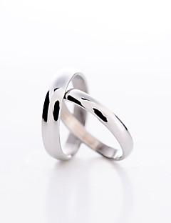 preiswerte Schmuck Ausverkauf-Damen / Paar Platiert Statement-Ring - Liebe / Modisch Ring Für Alltag