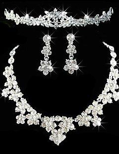 Women S Rhinestone Alloy Wedding Party Anniversary Birthday Engagement Gift Earrings Necklaces Tiaras Costume Jewelry