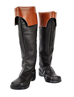 billige Anime Cosplay Sko-Cosplay støvler inspirert av 07 ghost-teito svart